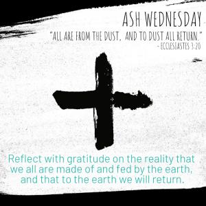 Green Lent 2020 Ash Wednesday